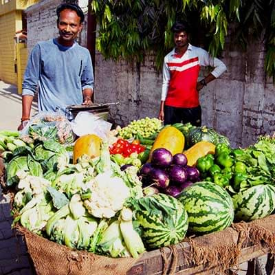 Varanasi Hostel Fresh Vegetable Hawker