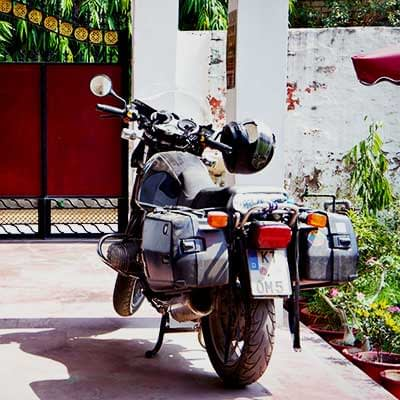 Varanasi Hostel Harley Davidson Free Parking
