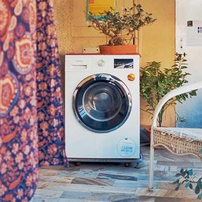 Varanasi Hostel Washing Machine