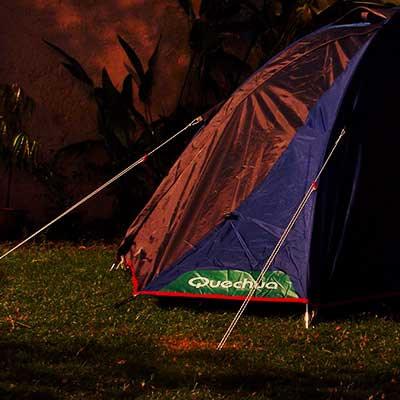 Varanasi Hostel Quechua Tent Nighttime