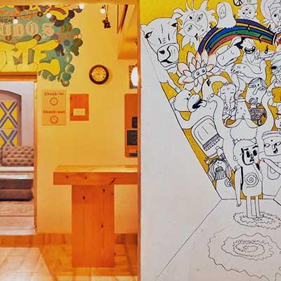 Varanasi Hostel Work Exchange Graffiti