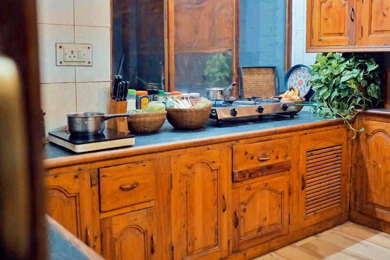 Communal Kitchen at ITH Hostel Varanasi