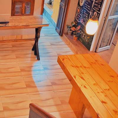 Varanasi Hostel Lobby Seating Area